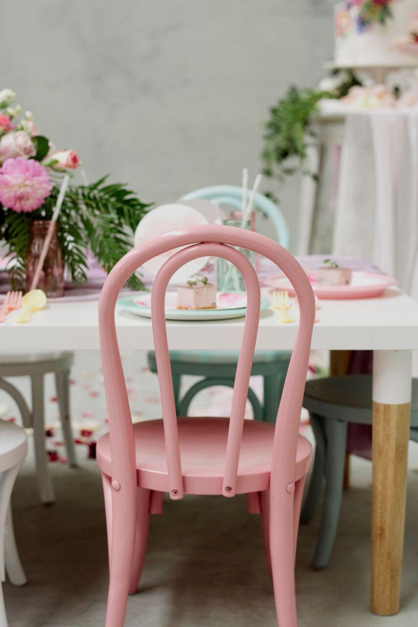 Kids Bentwood Chair Pink & Kids Bentwood Chair Pink - Heart Strings